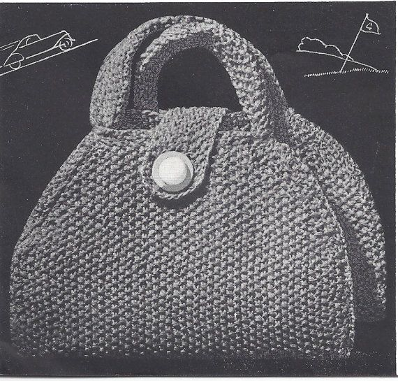 Knitting Bag Pattern : Knitting Patterns