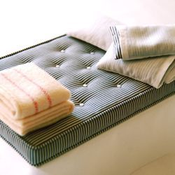 Hand-made miniature bedding and bedding kits. #dollhouse