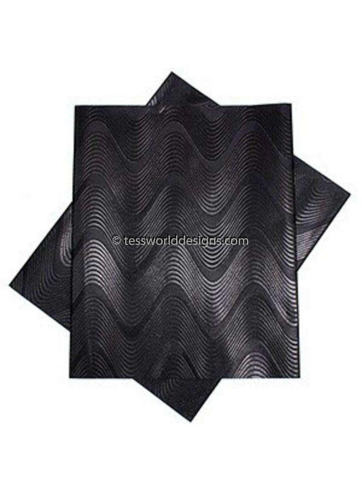 Black gele/ head wraps/  Nigerian gele/ gele fabric/ 2 piece African gele/ chevron GL26 by TessWorldDesigns on Etsy