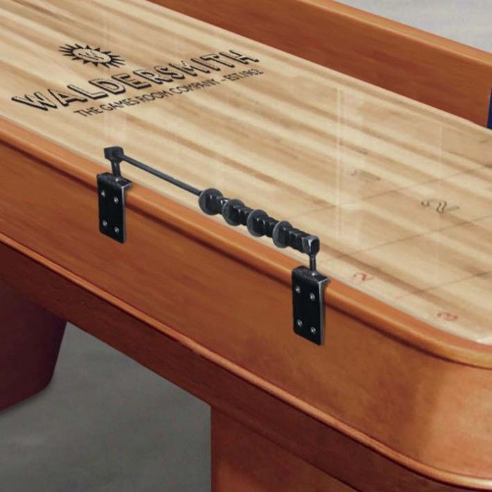 With its solid oak frame, The Blenheim shuffleboard exudes strength and simplicity - The Games Room Company