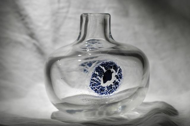 "Arne Lindaas for Magnor Glassverk 70's Signed ""Arne Lindaas"""