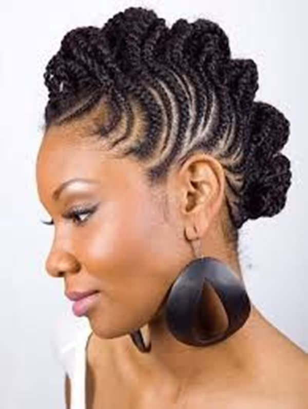 Image Result For Short Haircuts For Naturally Curly Hair And Round Face Black Hair Hair Styles Short Natural Hair Styles Braided Mohawk Hairstyles