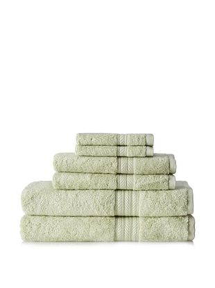 67% OFF Terrisol Cotton/Rayon from Bamboo 6-Piece Towel, Grass