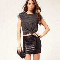 118 best images about Women Leather Skirts on Pinterest | Leather ...