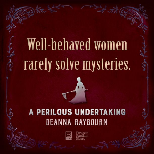 """No one write parasols, petticoats, and pistols like Deanna Raybourn"" – @laurenwillig. The second #VeronicaSpeedwell mystery is out Jan 10!"