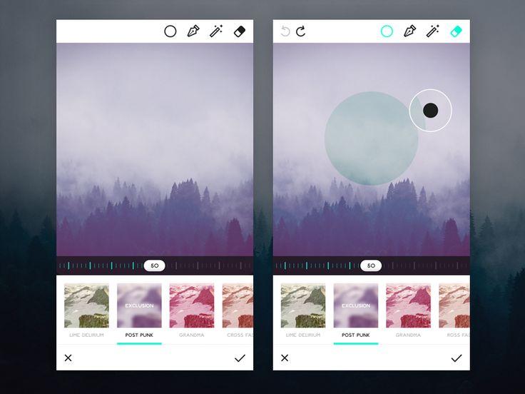 Photo Editor Design Inspiration — Muzli -Design Inspiration