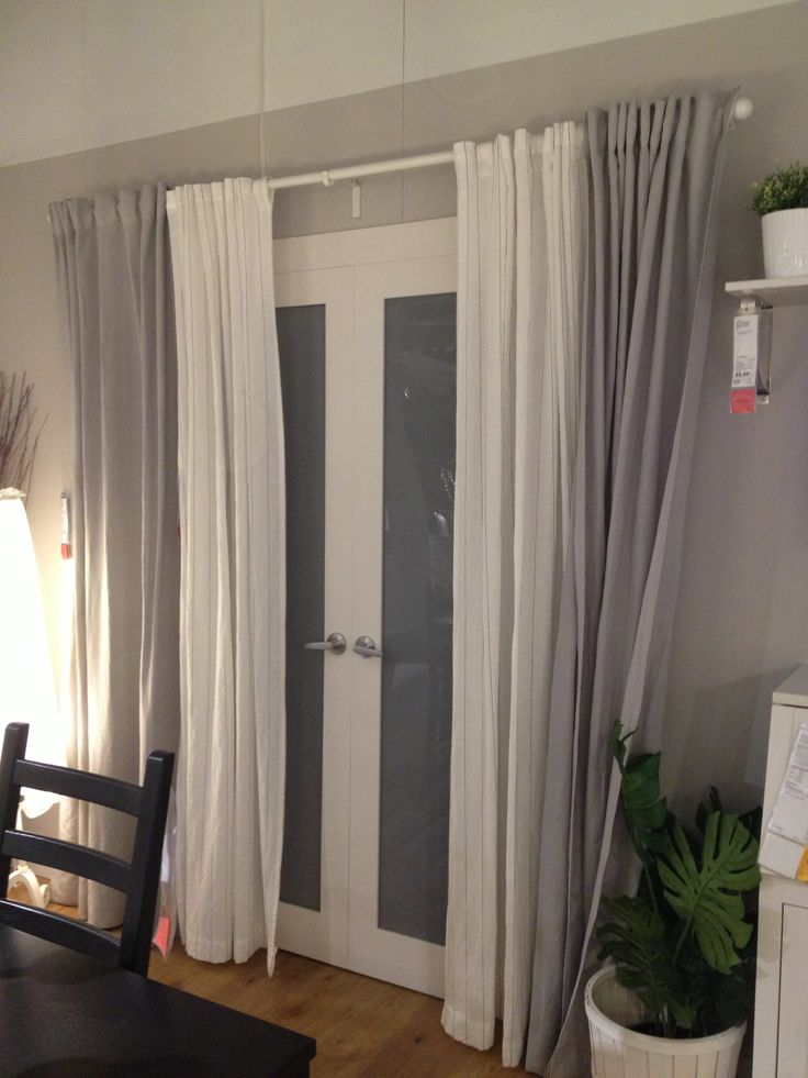 Back/patio door curtains -let sunlight in during the day  -keep people from looking in at night!
