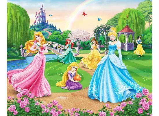 Kinderzimmer Tapeten Auf Rechnung : Disney Princess Mural