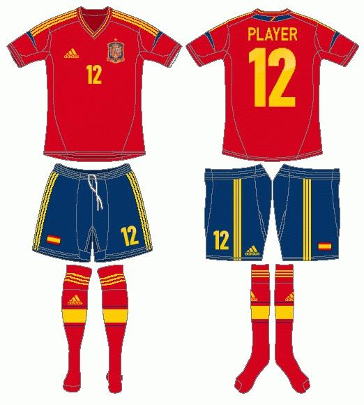 Spain Uniform -  (SportsLogos.Net)
