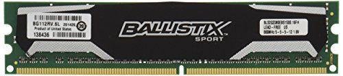 Ballistix Sport 4GB Kit (2GBx2) DDR2 800MHz (PC2-6400) UDIMM 240-Pin Memory BLS2KIT2G2D80EBS1S00