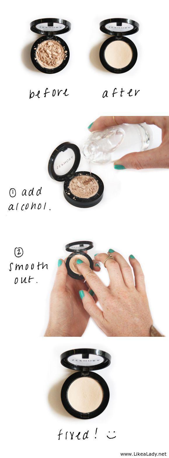 How to Fix Your Broken Eyeshdow http://thedailymark.com.au/beauty/fix-broken-eyeshadow