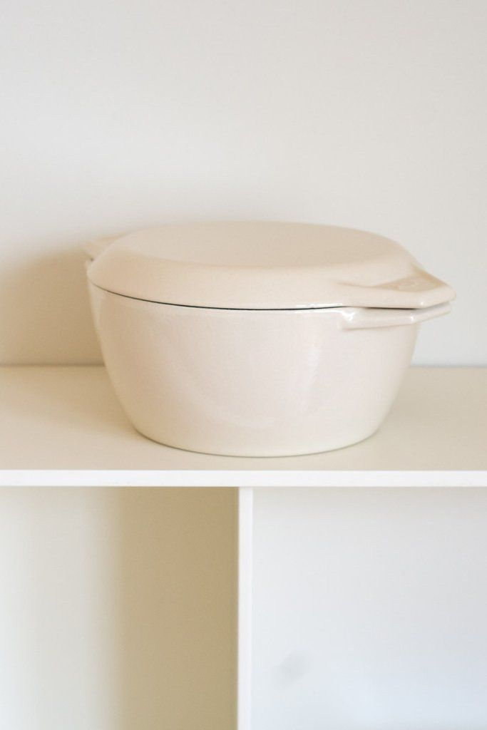AGA 4.2L Round Cast Iron Casserole - AGA enameled cast iron, made in the U.K., is a favorite for its historic quality and clean lines. Available in rare vanilla color. - from QUITOKEETO.com