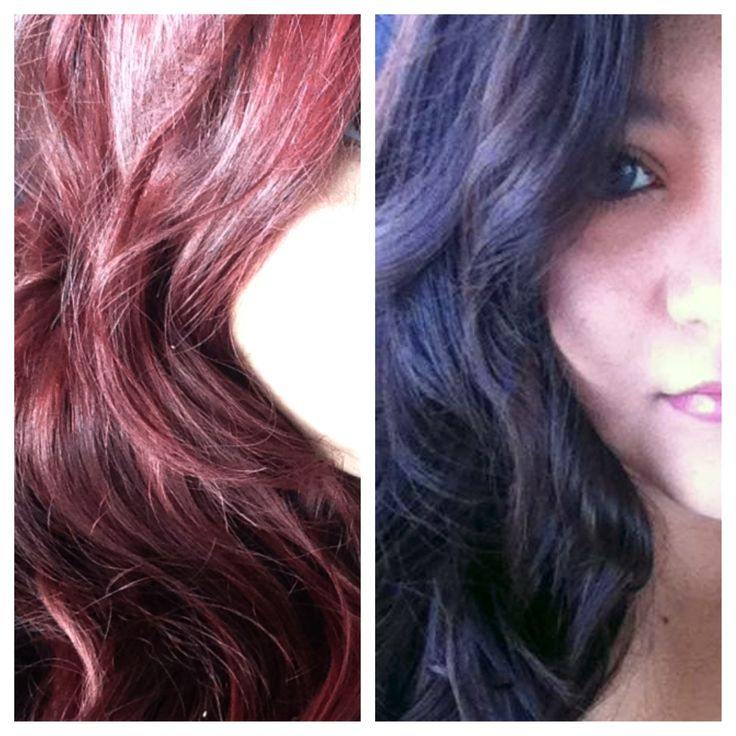 Dark Brown To Red Hair Using Loreal Hicolor In Magenta