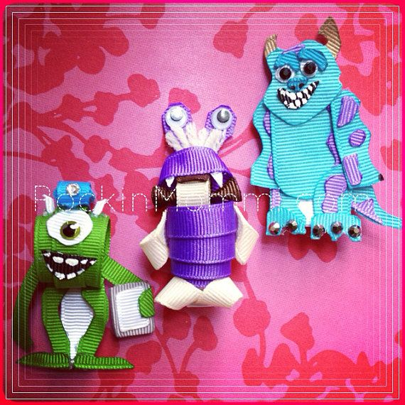 "RM ""Monsters Inc"" inspired Ribbon Cutie Set: MTO"