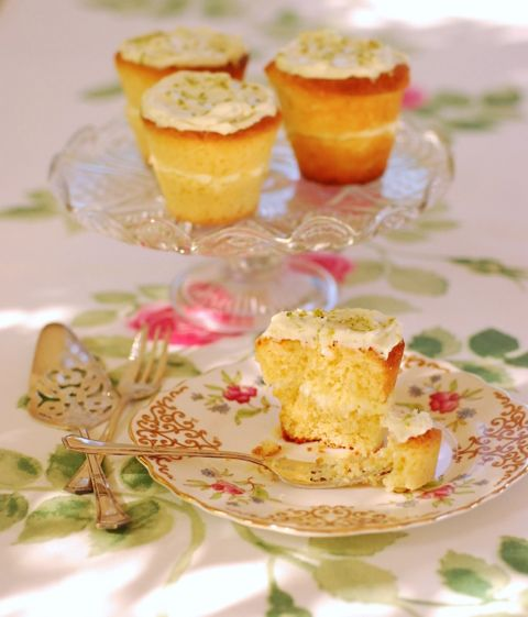Little & Fridays of Auckland inspired coconut & lime mini cakes