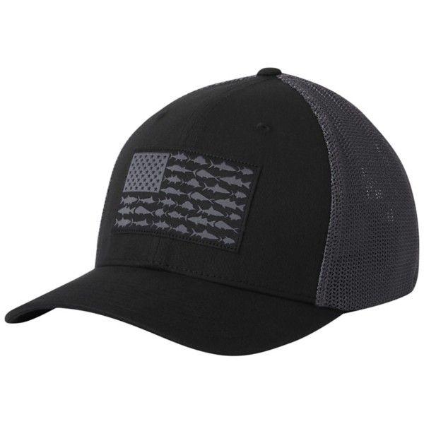 Columbia Pfg Mesh Fish Flag Hat In 2021 Ball Cap Columbia Pfg Trucker Hat