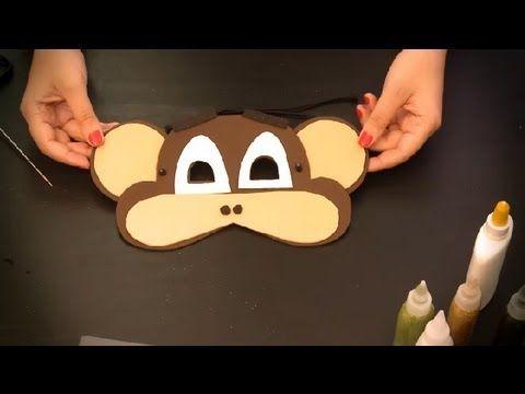 Cómo hacer un antifaz de mono : Antifaces de animales para niños - YouTube