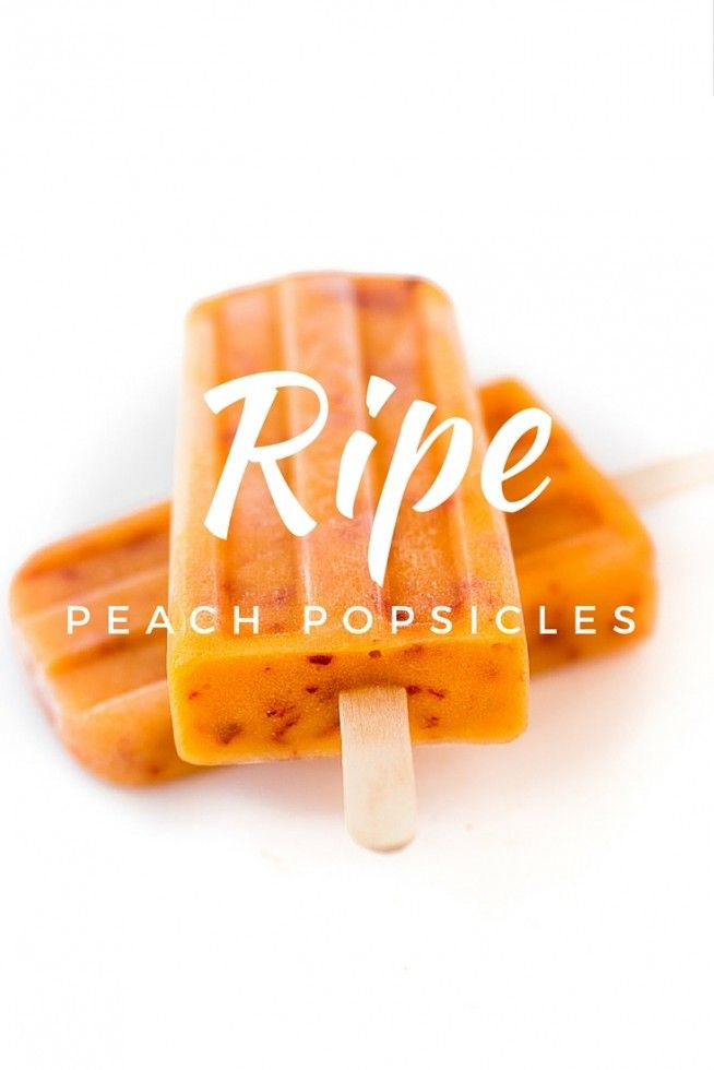RIPE PEACH POPSICLES taste just like biting into a fresh peach! | theviewfromgreatisland.com