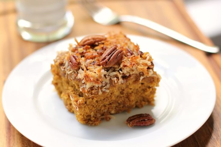 Pumpkin Oat Snack Cake with Broiled Coconut Icing... yes, I want to make EVERYTHING from the Willow Bird Baking blog.