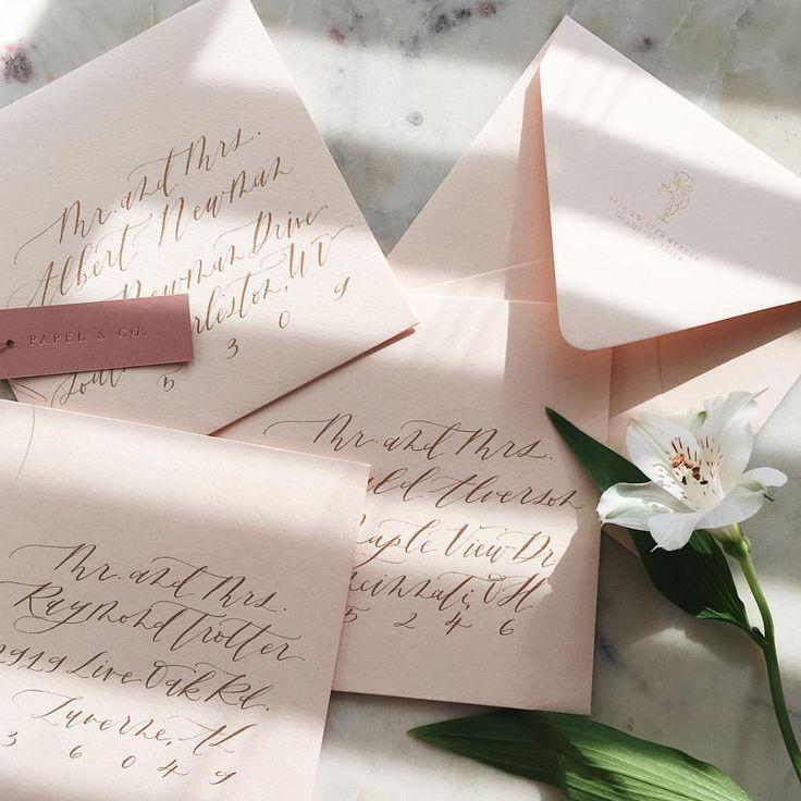how to return address wedding envelopes%0A       Likes     Comments  Papel  u     Co  by Nat Ot  lora   papelnco     Lettering StylesReturn AddressWedding