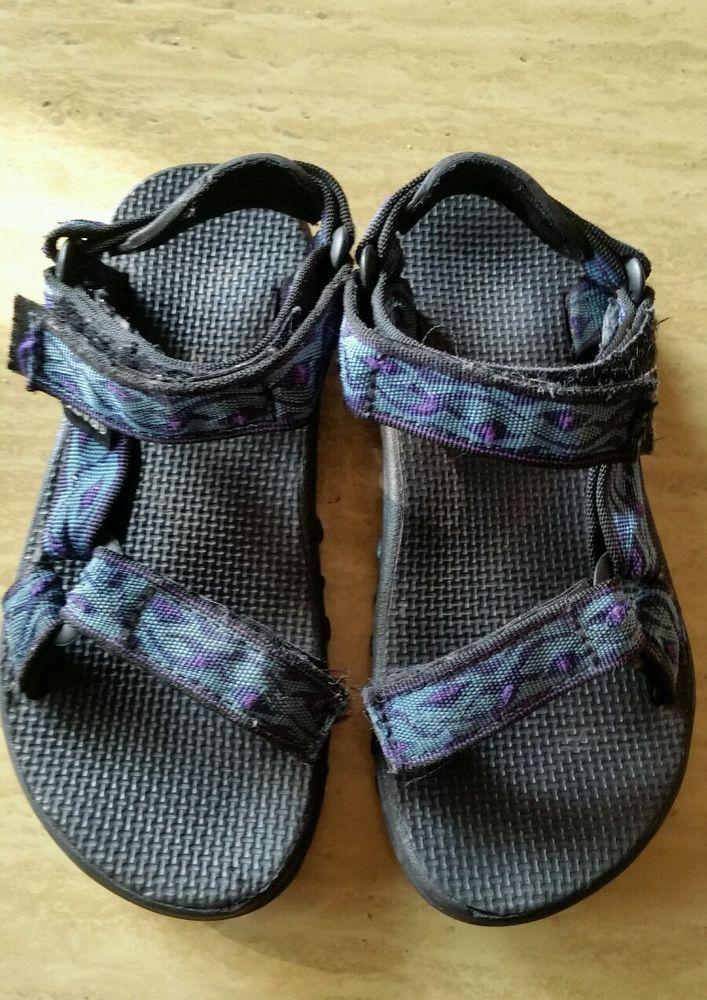 Teva Kid's Boy's blue tribal Pattern Sport Sandals Shoes, Youth Size 1 #Teva