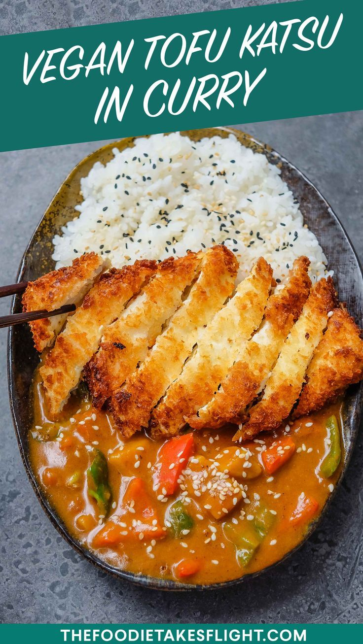 Japanese Tofu Katsu In Curry Vegan Recipe Tofu Recipes Vegan Tofu Recipes Healthy Vegan Recipes