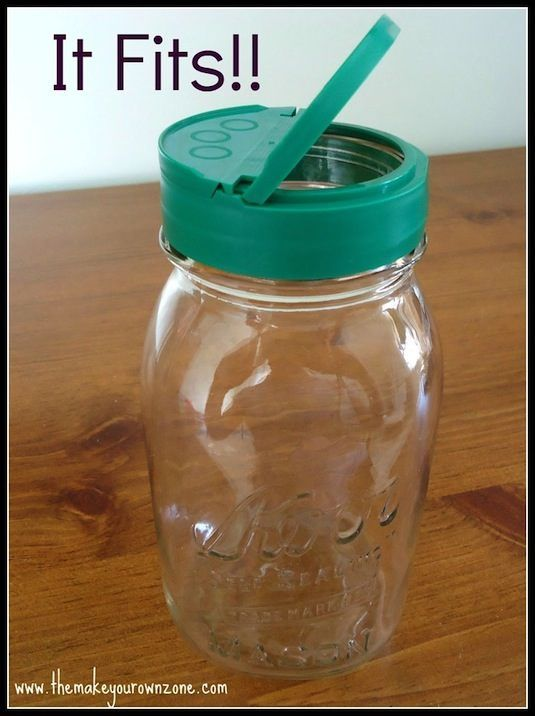20 Of The Best Mason Jar Projects | Screw a parmesan cheese lid to the top of a mason jar. It fits!!