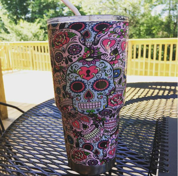 Best Rtic Cups Images On Pinterest Monogram Cups Monogram - Sugar skull yeti cup