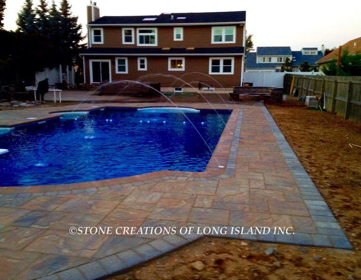 Cambridge Pavingstone Pool Patio, West Islip, N.Y 11795 - Stone Creations of Long Island - Deer Park, N.Y 11729 (631) 678-6896 - (631) 404-5410 www.stonecreationsoflongisland.net