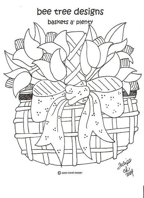 Baskets Of Plenty Embroidery Or Redwork