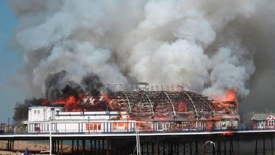 Eastbourne pier, watched so sad, so happy it was saved