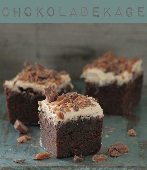 Chokoladekage med kaffefrosting og Daim