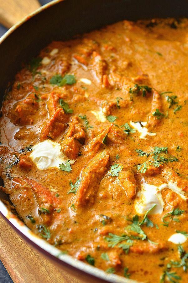 Butter Chicken Restaurant Style Murgh Makhani Indian Foods