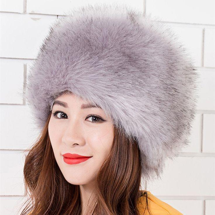 $7.99 (Buy here: https://alitems.com/g/1e8d114494ebda23ff8b16525dc3e8/?i=5&ulp=https%3A%2F%2Fwww.aliexpress.com%2Fitem%2F2016-winter-NEW-Fashion-Women-Lady-Faux-Fox-Fur-Cossack-Style-Russian-Winter-Hats-Warm-Cap%2F32760976896.html ) 2016 winter NEW Fashion Women Lady Faux Fox Fur Cossack Style Russian Winter Hats Warm Cap  for just $7.99