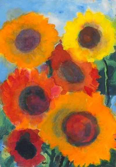 stilllifequickheart: Emil Nolde Red and Gold Sunflowers 20th century