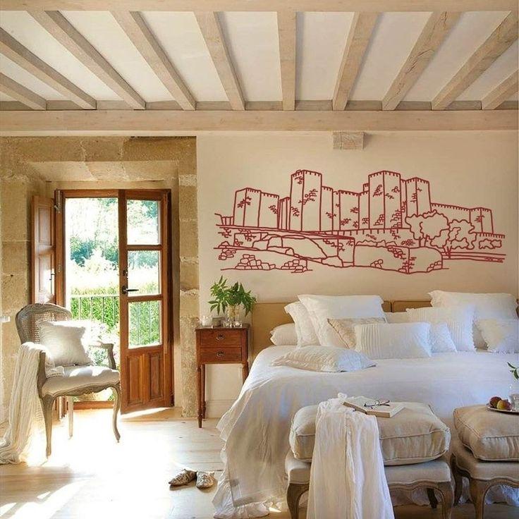 Decora tu casa rural o salón con el Castillo de Trujillo⠀ #Trujillo #Cáceres #Juegodetronos #vinilodecorativo #arte
