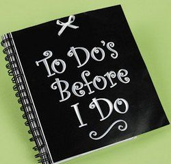 To Dos Before I Do - Spiral Notebook.  This spiral notebook makes a fun wedding shower gift.  With a cute bow accent, it will keep the bride organized before the big day!  14cm x 15cm with 60 blank pages.