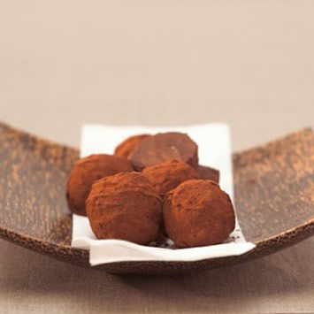 Perhaps add a little rum or champagne here for special occasions?  DAGOBA Chocolate Truffles