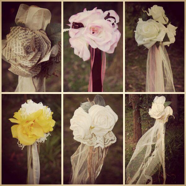 Wedding aisle garden sticks