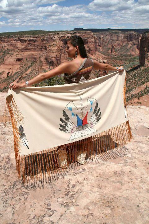 NAC- Native American Church shawl - water bird