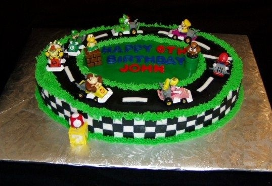 Yep I could totally do this Mario Kart Cake!!