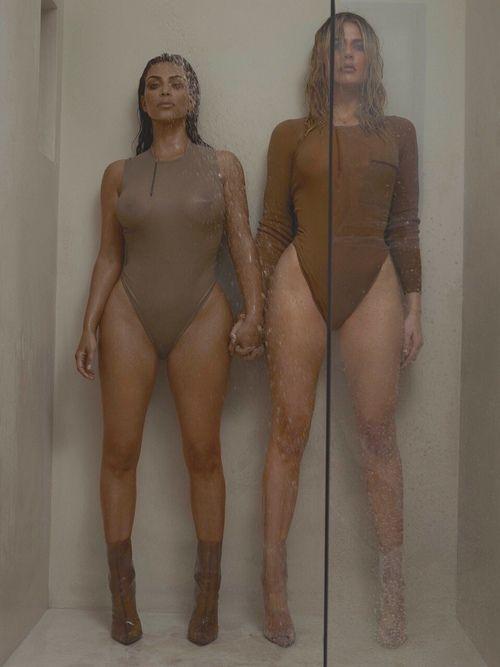 kim kardashian, khloe kardashian, and goals image
