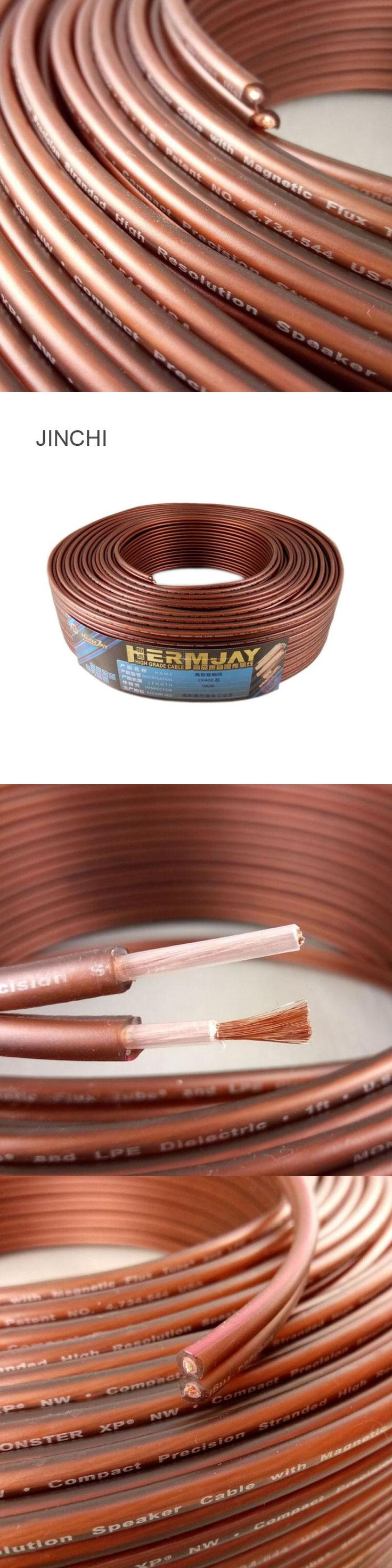 Wholesale Brand 400-core brown audio line of pure copper fever speaker line high-elastic soft leather speaker wire free shipping