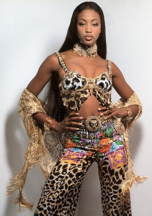 Naomi Campbell in Atelier Versace - Vogue Italia - March 1992