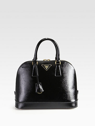 All that is between me and this Prada Saffiano Vernice Bugatti Top Handle Bag is 1500 dollars -- Santa, I have been a VERY good girl this year!