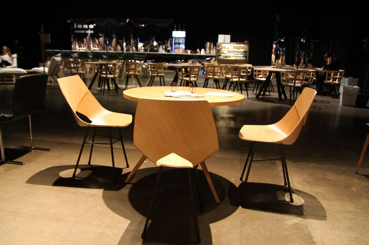 Limi chair, Pi table, wooden furniture, Showroom Habitare 2017