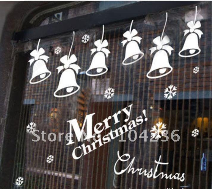 Christmas Decorations Sliding Glass Doors : Best christmas window stickers ideas on