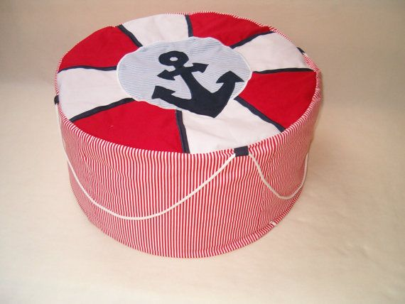 NAUTICAL   Bean Bag Childrens Pouf   Kids by Customquiltsbyeva, $130.00