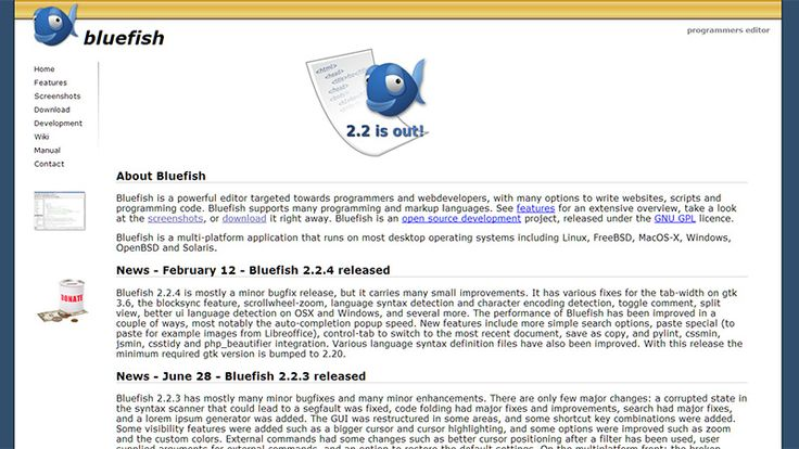 Bluefish is free, open source, compatible with Windows, Mac, Linux, BSD, and Unix systems. There is no WYSIWYG editor feature and you cannot do shared editing. Multiple browsers are useful to check work. However it is similar to Dreamweaver's support for developing HTML, XHTML, CSS, etc, and in addition it supports Google Go, Vala, ColdFusion, Ruby and Shell. It has auto-recovery of changes after a crash as well as a FTP upload, server-side scripting, spell checker and page preview feature.