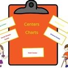 Copy the Centers Charts and then laminate them for years of use.  Place them around the room to showcase your centers or stations in the classroom....